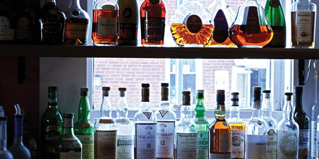 A Full Bar at Havana in Bar Harbor, Maine
