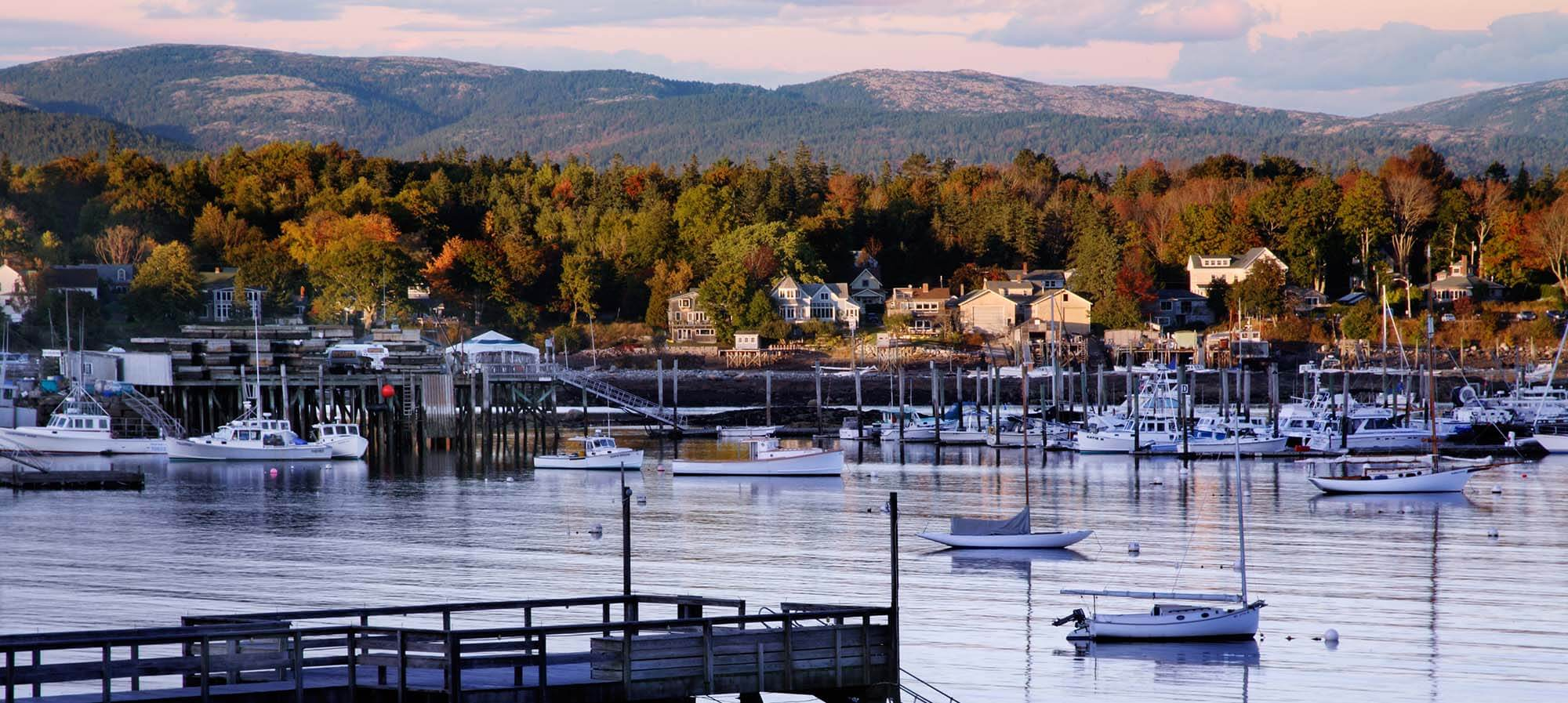 Southwest Harbor on Mount Desert Island, Maine