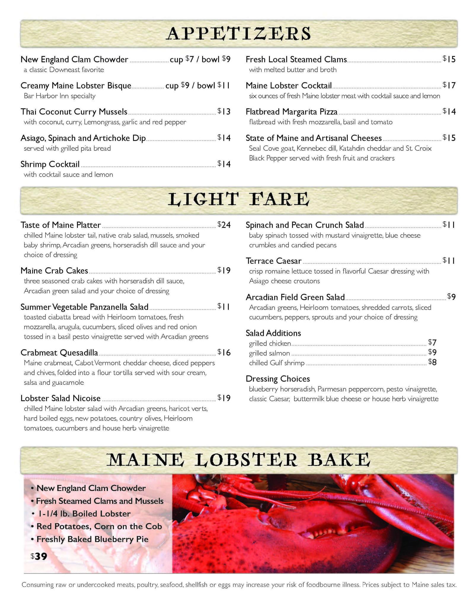 The Terrace Grille, Bar Harbor, Maine