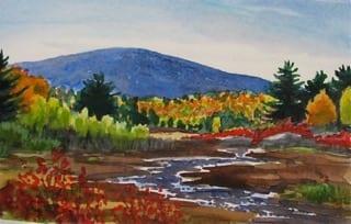 Art in Acadia - Painting Autumn